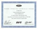 1994 Cobra SVT Certificate